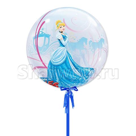 Прозрачный шар бабл по мотивам мультфильма Золушка, 56 см