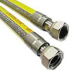 Подводка для газа в металлической оплетке с ПВХ EuroStandart 1/2 Г/Г 200СМ (IDROSAPIENS)