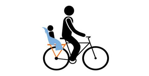 Картинка велокресло Thule Yepp Maxi Easy Fit голубое