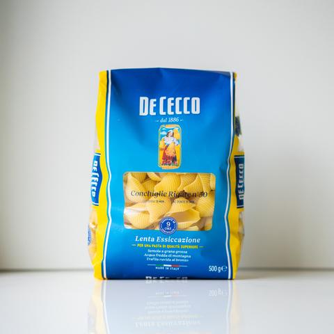 Макароны Conchiglie Rigate №50, De Cecco, 500 гр