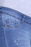 Джинсы для беременных (SKINNY) 08413 синий