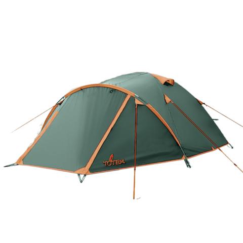 Туристическая палатка TOTEM Chinook 4 (V2) (зеленый)