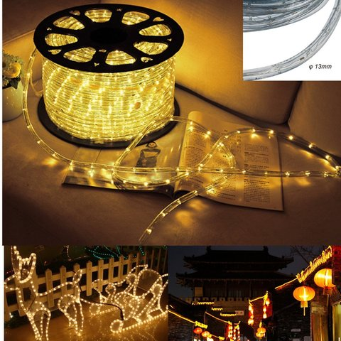 Дюралайт лэд желтый свет цвет  LED