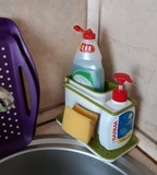 Органайзер для раковины на кухню Caddy™ белый-зеленый Joseph Joseph 85021 | Купить в Москве, СПб и с доставкой по всей России | Интернет магазин www.Kitchen-Devices.ru