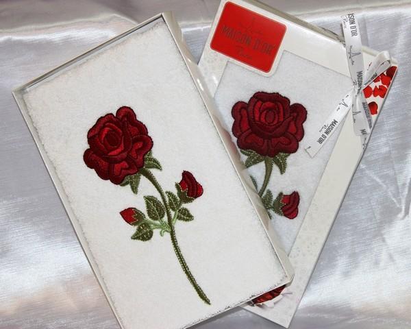 Полотенца SINGLE ROSE  СИНГЛ РОС полотенце махровое в коробке Maison Dor Турция single_rose_1.jpg