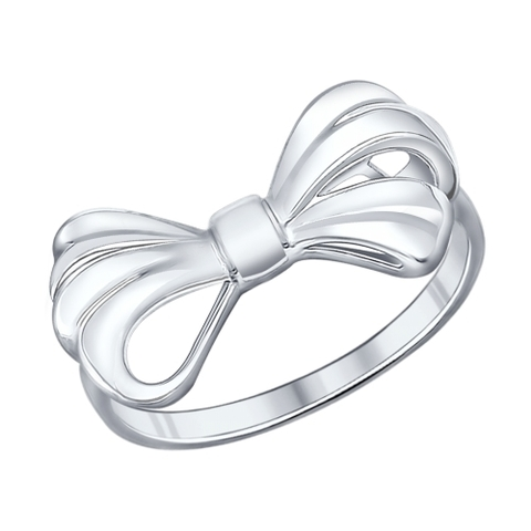 94011865 - Кольцо из серебра в форме бантика