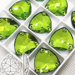 Купить пришивные стразы Sphinx, Trilliant ярко-зеленые Сфинкс