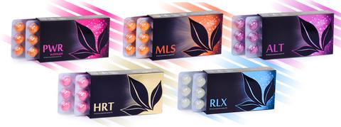 APL. Набор драже 9 коробок: PWR woman+HRT+MLS+ALT+RLX  для женского здоровья