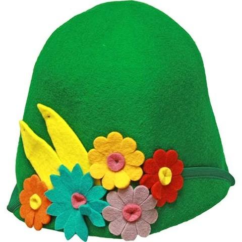 Фетровая шляпка для бани