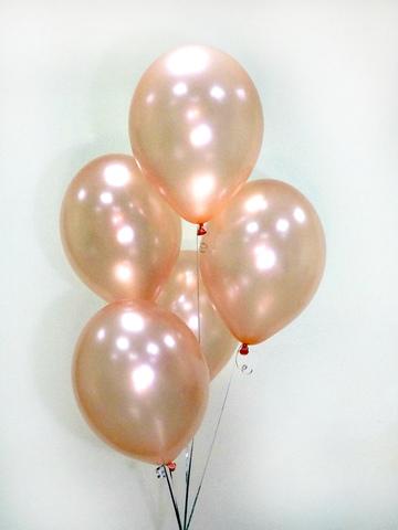Воздушные шары розовое золото металлик