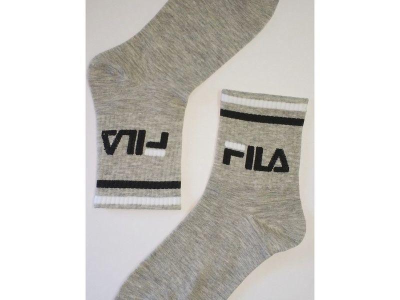 Мужские носки FILA удлиненные серые 1 пара
