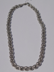 Розочка пустотелая  1,0 (серебряная цепочка)