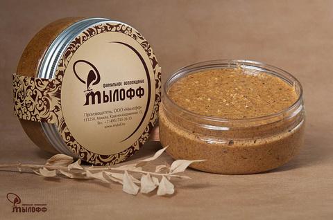 Шиповниковый солевой скраб для тела с маслами ши и кокоса и витамином Е, 250 г, ТМ Мылофф
