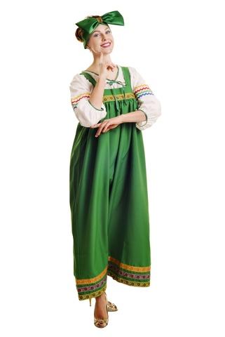 Костюм Барыня в зелёный сарафане взрослый