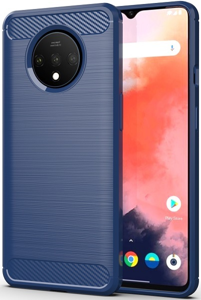 Чехол OnePlus 7T цвет Blue (синий), серия Carbon, Caseport