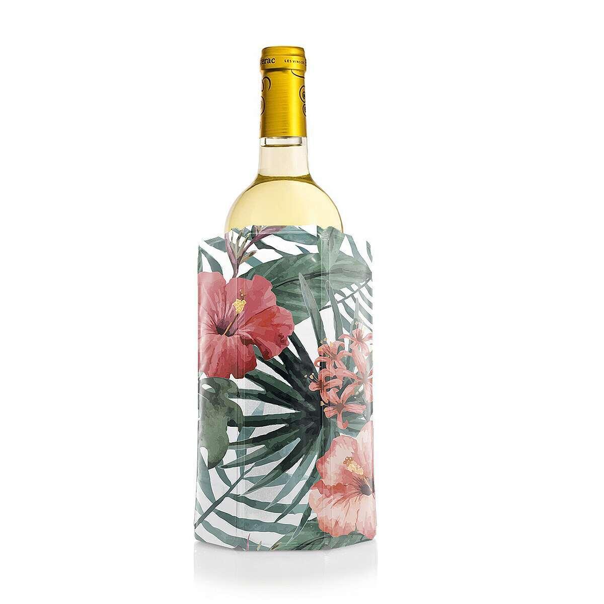 Фото - Охладительная рубашка для вина (в цветочек) сумка под бутылку и охладительная рубашку bottle bag