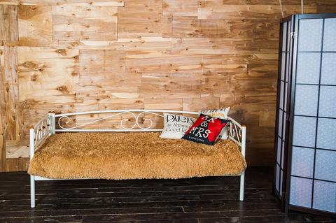 Кровать-кушетка Оптима Люкс металлическая 90х200 белый