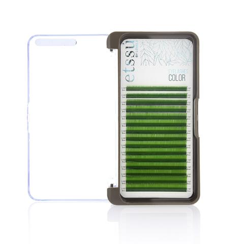 Ресницы Etssu Color Green 15 линий MIX