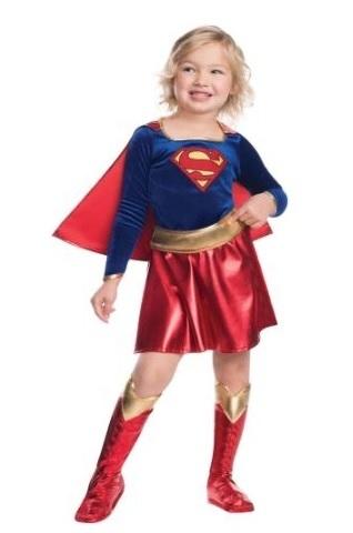 Супергероини костюм для девочки Супергерл и Капитан Америка