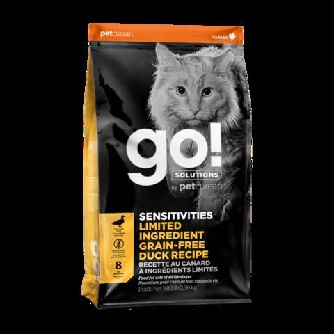 Go! Sensitivities Сухой корм для кошек и котят с чувствительным пищеварением со свежей уткой (беззерновой)