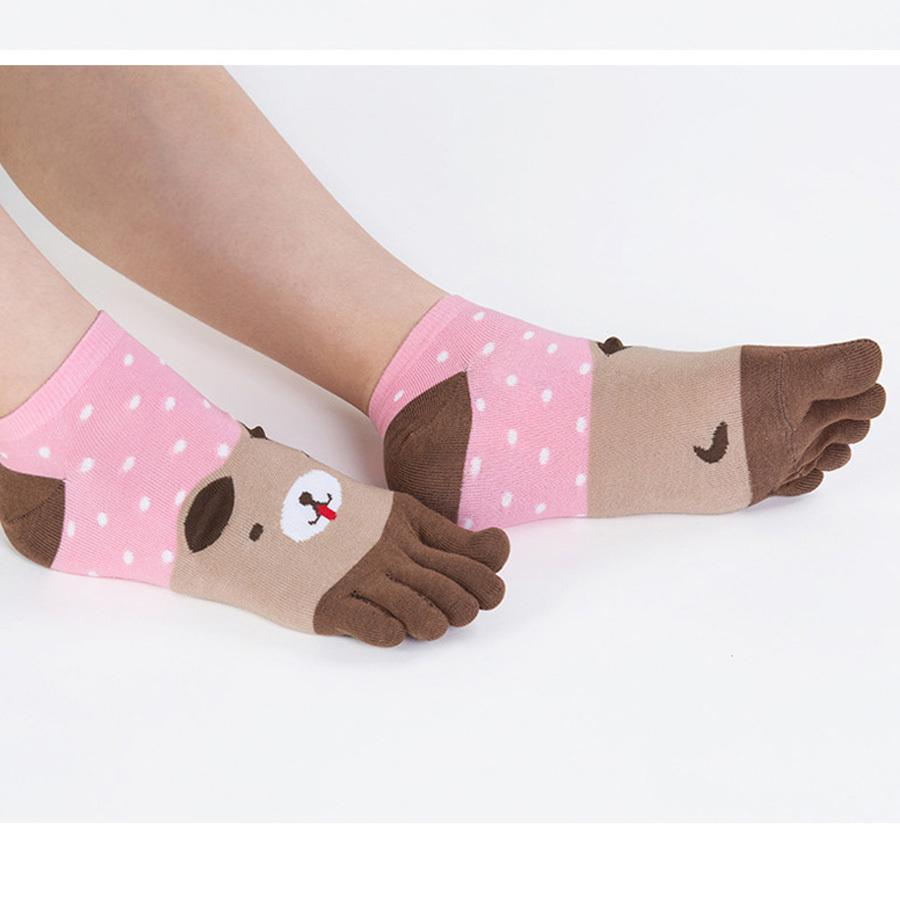 """Детские носки 5 пальцев """"Веселые животные"""""""