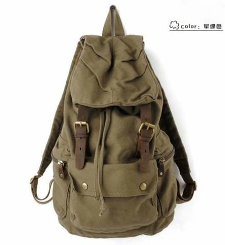 Классический винтажный рюкзак S.C.Cotton Army Green