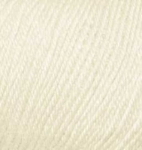 Пряжа Baby wool ( Alize) 01 Кремовый