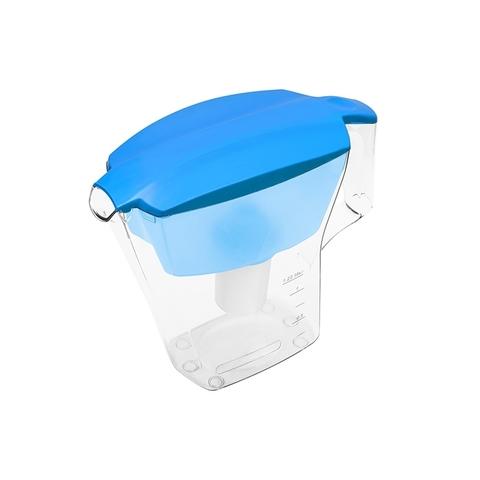 Фильтр - кувшин для воды Аквафор Лайн голубого цвета.