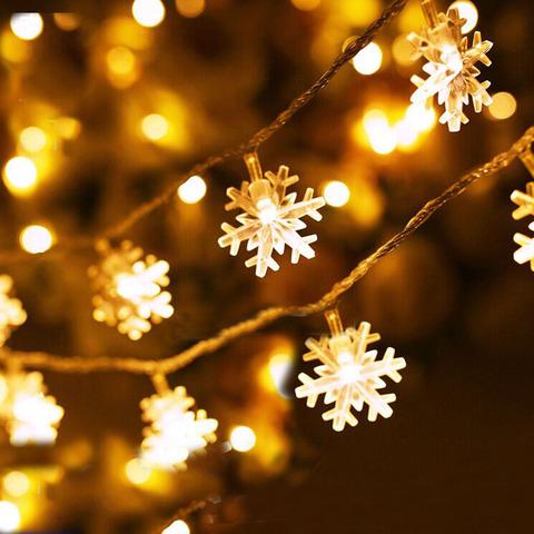 Новогодняя гирлянда Снежинки