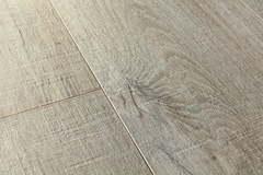 ПВХ плитка, кварц виниловый ламинат Quick Step LVT Pulse Click Дуб хлопковый темно-серый пилёный PUCL40106