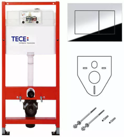 Инсталляция для унитаза с клавишей Tece TECEnow 9400012