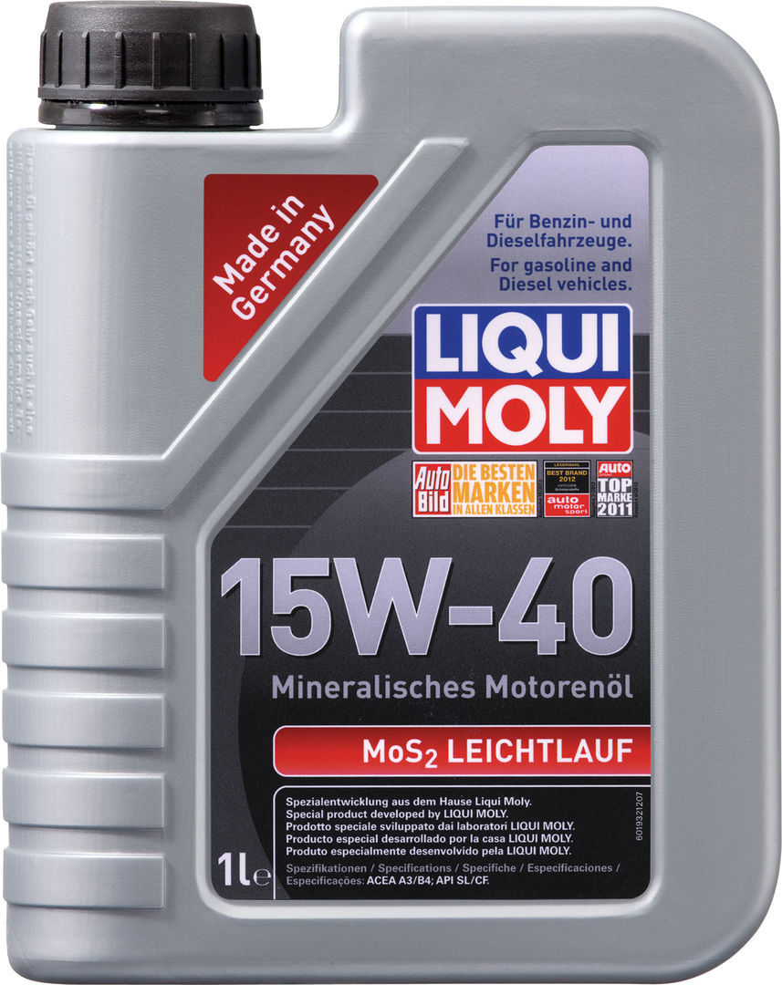 Liqui Moly MoS2 Leichtlauf 15W-40 - Минеральное моторное масло