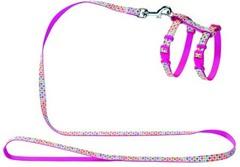 Шлейка для кошек и собак, Hunter Smart Seventies, нейлон розовый