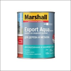 Водная эмаль для дерева и металла Marshall EXPORT Aqua (светло-серая)