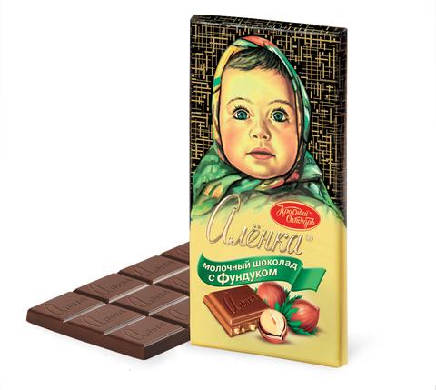 """Шоколад """"Алёнка"""" с фундуком 100г"""