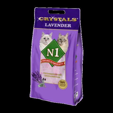 №1 Crystals Lavender Наполнитель для туалета кошек силикагелевый