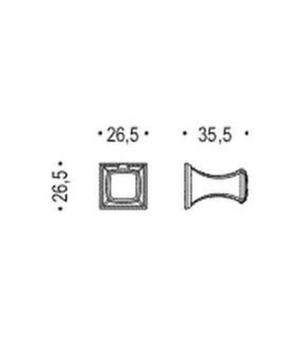 Крючок Colombo Portofino CD87,  хром схема