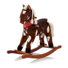 Jolly Ride Качалка меховая Лошадка (YR622)