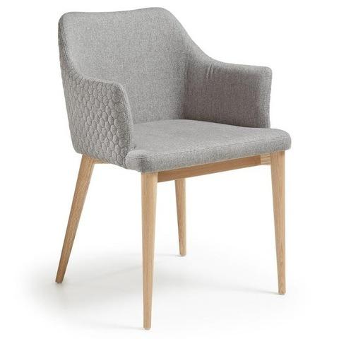 Кресло Danai серое тканевое