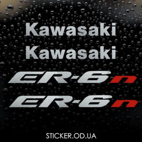 Набор виниловых наклеек на мотоцикл KAWASAKI ER-6n 2007