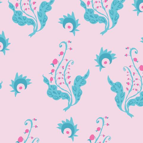 Ягодки на нежно-розовом фоне. Cute berries on pastel pink