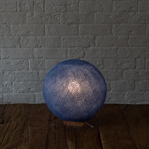 Хлопковый светильник синий