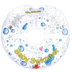Baby Swimmer  Круг на шею  6-36 кг с погремушкой (прозрачная капелька) (BS11-4)