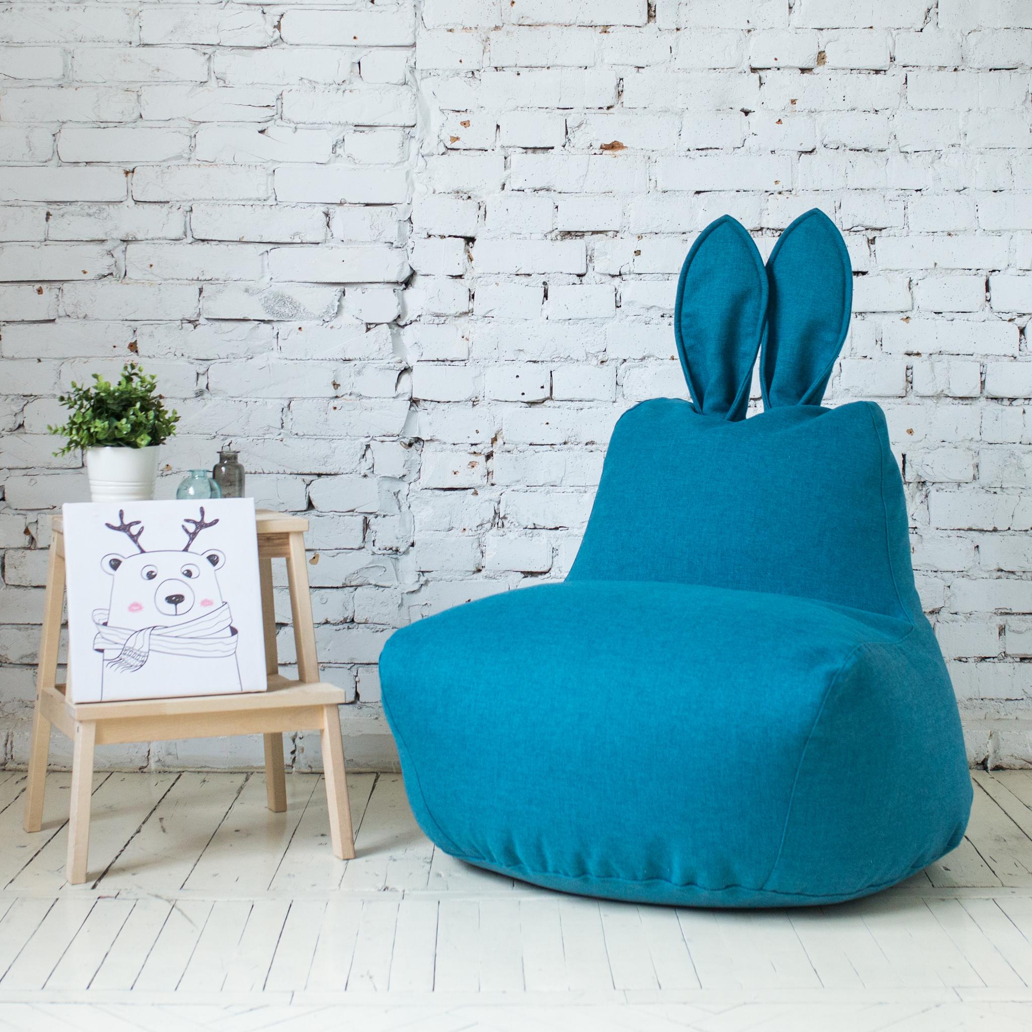 Кролик M тканевый (тёмно-бирюзовый)