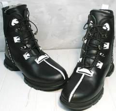 Теплые ботинки женские Ripka 3481 Black-White.