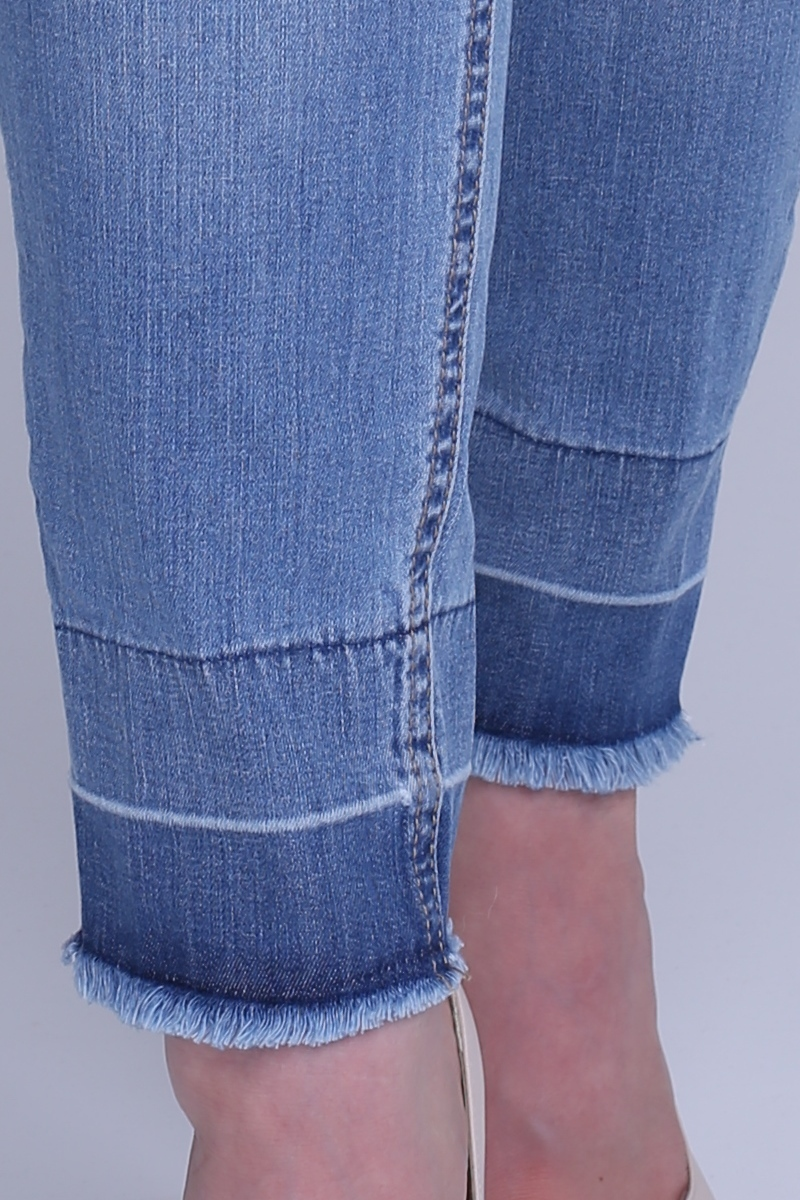 Фото джинсы для беременных MAMA`S FANTASY, модель зауженного укороченного кроя, высокая вставка от магазина СкороМама, синий, размеры.