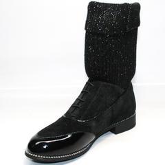 Женские осенние полусапожки Kluchini 5161 k255 Black