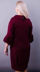 Гледис. Нарядное платье для пышных дам. Бордо.