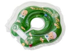 Baby Swimmer Круг на шею 3-12 кг с погремушкой (зеленый) (BS21-1)