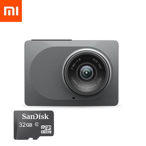 Видеорегистратор Yi Smart Dash Camera Youth Edition (с русским языком) + 32GB